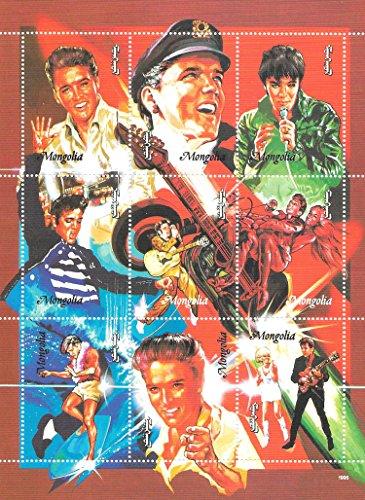 Briefmarken für Sammler - Elvis singen MNH Souvenir Blatt/Mongolei / 1995 - Elvis-souvenir