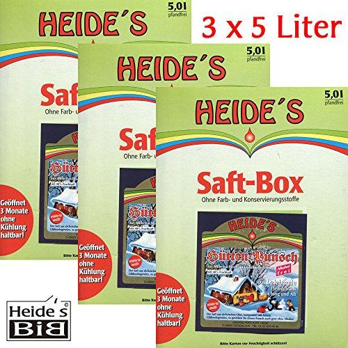 Hüttenpunsch alkoholfrei 3er-Pack, 3 x 5 Liter
