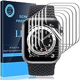LK 6 Pezzi Pellicola Protettiva Compatibile con Apple Watch Series 6 Series 5 Series 4 SE 44mm,Sensibile al tatto, Senza Boll