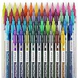 ARTEZA TwiMarker | 48 Bunte Marker mit Doppelspitze | Feine 0,4 mm Spitze und Pinselspitze | Wasserbasierter Tinte | Pinselstift und Fineliner zum Schreiben und Malen