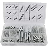 Sirius&Co Springs Extension of Zinc Plated Compression Springs Repair Tool Assortment Kit Silver Color Suit for 3D Printer,Ma