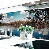 Küchenrückwand Waldsee Premium Hart-PVC 0,4 mm selbstklebend 220x80cm