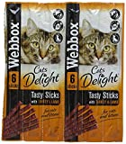 Webbox Delight Cat Sticks Turkey and Lamb, 30 g, Pack of 12