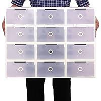 Mutiwill 10 Pièces Boîte À Chaussures Boîte À Chaussures Empilable Boîte De Rangement Pliable pour Chaussures Boîte À…
