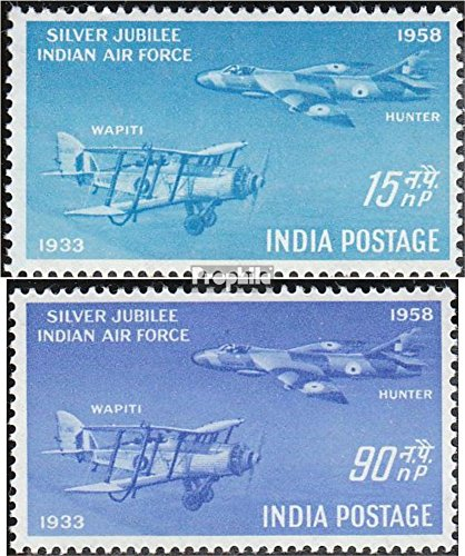 india-284-285-completa-edizione-1958-air-force-francobolli-