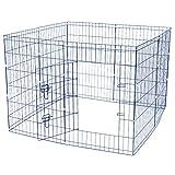 Jalano Welpenauslauf Welpengitter Laufstall für Hunde Katzen Hasen Zaun 8-teilig, Höhe:76 cm