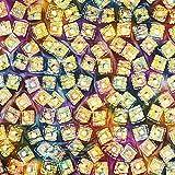 Fabulous Fabrics Canvas Baumwollstoff Batikkästchen –
