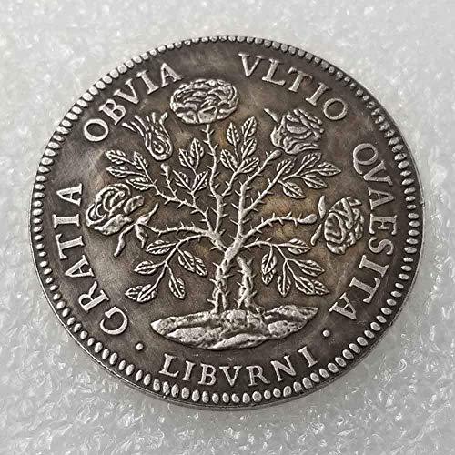 YunBest Best Italy Silber-Dollar-Münze für Italien - 1700 Cosimo III Alte Münze zum Sammeln - Silber-Dollar Italien Old Original Pre Morgan Dollar BestShop (1700 Dollar)