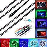 LED Streifen SELIAN LED TV Hintergrundbeleuchtung 3m LED Strip Stripe Stripes Kit für 45-70 Zoll TV RGB 5050 LED Band Lichtband mit RF Fernbedienung USB Powered TV Beleuchtung
