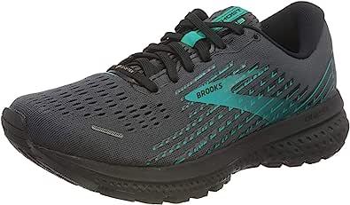 Brooks Womens Ghost 13 GTX Running Shoes - Black/Black/Peacock