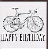 Elegante Glückwunschkarte 'Happy Birthday' von Koko Designs mit Rennrad KS001
