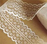 #8: Pinkdose® White: 32Colors Width 45Mm 10Yards Embroidery Net Lace Trim Fabric Garment Ribbon Headband Wedding Decoration Party Gift DIY Accessorie