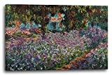 Printed Paintings Leinwand (100x70cm): Claude Monet - des Künstlers Garten Schwertlilien