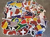 Set mit Länderaufklebern, internationale Fahnen