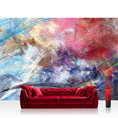 Preisvergleich Produktbild Vlies Fototapete 152.5x104cm PREMIUM PLUS Wand Foto Tapete Wand Bild Vliestapete - Kunst Tapete abstrakt modern Formen fließend bunt - no. 3175