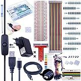 Pour Raspberry Pi 3, Kit De Démarrage Complet Edition avec Alimentation 2.5A, Micro USB Câble Avec Interrupteur, Plaque De Prototypage T-type GPIO, Câble Ruban 40pin, Câbles De Démarrage, Dissipateur Thermique, HDMI, Tournevis, Boutons Poussoir, Kit Projet K74 De La Marque Kuman