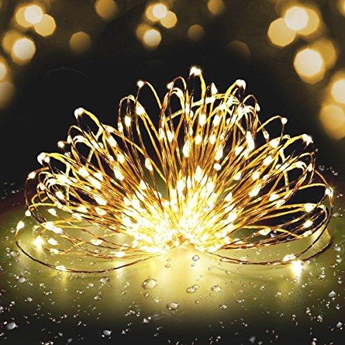 Lichterkette 300 LEDs Fivanus 30M Sterne Warmweiß Energiespar Wasserdicht Kupferdraht ketten Außen/Innen Anwendung Dimmbare Stern-Beleuchtung Dekoration für Weihnachten Halloween Zimmerdekoration Hochzeit (Halloween-innen-dekoration)