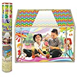 #8: NHR Multicolor Kids LED Light Play Tent House with Wheels
