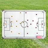 Taktiktafel mit Tragetasche, 90 cm x 60 cm, magnetisch, für Teamsportbedarf - Fußballtraining