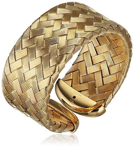 Il quinto anno di Roberto Coin-Bracciale in argento placcato in oro con autografo, colore: rosso (Roberto Coin Designer Bracciale Designer)