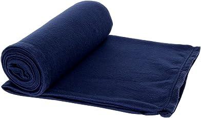 AAZEEM Solid Polyester Single Blanket - Blue