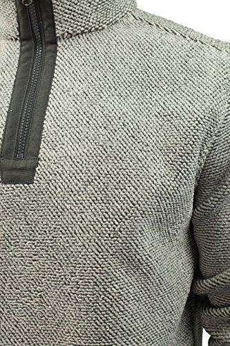 Herren Kapuzenpullover mit Reißverschluss von Kensington Eastside mit Micro Fleece Fütterung Creme