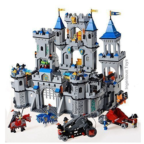 LARGE-Castle-Lion-Knights-11-Fighters-1393pcs-Box-Set-compatible-bricks-NEW-1023