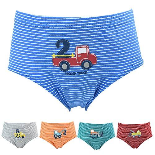 Jungen Slips 5er Pack Baumwolle Unterwäsche LKW set für Kinder, 2-3 Jahre, LKW set