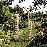 Gardman 07713 Arche en Bois Élégance Naturel 192 x 37 x 7 cm