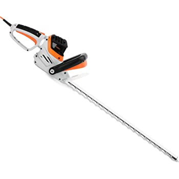 VonHaus Rotating Handle Electric Hedge Trimmer, 61cm Blade Length - Bush Cutter with 710W Power, Protective Cover, Safety Trigger & 10m Power Cable