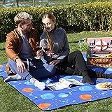 SONGMICS Outdoor Beach Picnic Blanket Rug Mat with Waterproof Backing 200 x 200 cm GCM70UQ