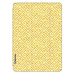 Enthopia Designer Front Smart Cover The Yellow Greecian Look Back Cover for Ipad Mini 4 with Transparent Back Case
