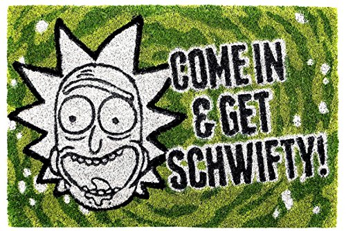 1art1® Rick Y Morty - Rick and Morty Get Schwifty Felpudo Alfombrilla