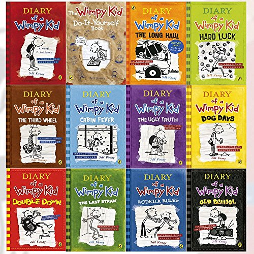 Price comparison product image Diary of a Wimpy Kid Collection 12 Books Set (Double Down, Old School, Hard Luck,Third Wheel, Cabin fever, The Ugly Truth, Dog Days, Do-It-Yourself Book, Diary of A Wimpy Kid, Rodrick Rules, The Last Straw, The Long Haul)
