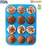 Muffins & Cupcake Moulds - 12 Cavity Sil...