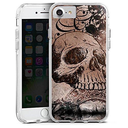 Apple iPhone 6s Bumper Hülle Bumper Case Glitzer Hülle Halloween Totenkopf Skull Bumper Case transparent
