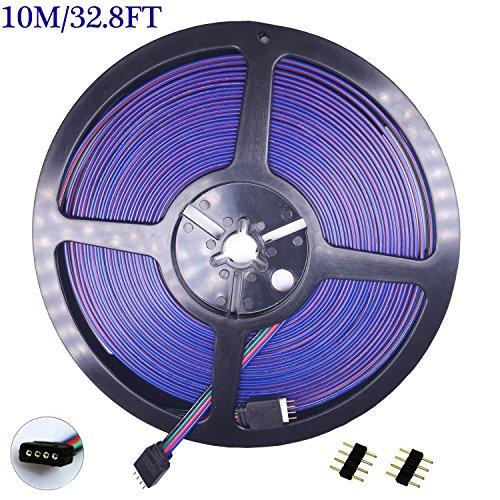 hooyastark-4pin-rgb5050-rgb3528-led-strip-light-extension-cableled-tape-light-10m-328ft-layout-exten