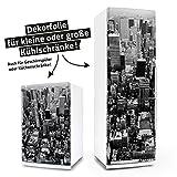 posterdeluxe Kühlschrank- & Geschirrspüler-Aufkleber - New York - Dekor Folie Klebefolie Front Sticker