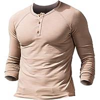 Muscle Alive Uomo Slub Henley Maglietta Manica Corta Leggero vestibilità Morbida Casuale con 3 Pulsanti abbottonatura…