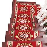 Unbekannt YXX- Teppich-Feste Holztreppen-Gewohnheits-Treppenbelag-Auflagen-Hauptkleber-Rutschfeste Teppich-Matte (Farbe : 10 Piece, größe : 100 * 24 * 3cm)