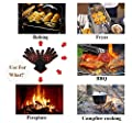 K Keiby Citom Fire Resistant Gloves Fire Pit 932f Heat Resistant - Bbq Gloves For Barbecue Kitchen Outodor Cooking Baking Fireplace Accessories With 2 Free Mini Oven Mitts Blackred by KC1065