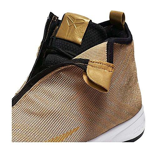 Nike Zoom Kobe Icon Jcrd, Scarpe da Basket Uomo Multicolore (Dorado / Blanco / Negro (Mtllc Gold / Mtllc Gld-Blk-White-))