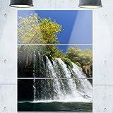 Design Art Duden Wasserfall Antalya Landschaft Foto Metall Wand Kunst, (3), grün/blau, 71,1x 91,4cm