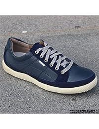 Cordón de cuero de gamuza de cuero zapatillas zapatos zapatos ocasionales,Blues de 40 yardas