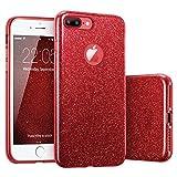 Mayround Coque Bling à paillettes pour iPhone 8Plus, découpe élégante,...