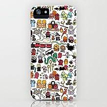 Funda iPhone SE 5S 5 Casas de Harry Potter Estuche de Silicona,TPU Diseño impreso + delgado anti-arañazos Suave Jelly Crystal Silicona Cáscara Dibujos animados Patrón