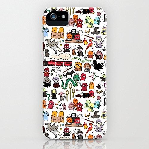 ry Potter Muster ultra-dünn schützt Dein iPhone 5S/5 ist stylisch Case Design Schutzhülle Bumper Geschenk (iPhone SE/5S/5, Halloween Geschenk) (Halloween-telefon)