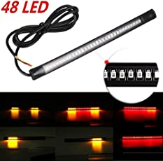 Motoway 32-SMD Red LED Bar for Bike Brake Tail Light & Left/Right Turn Signal Lamp for for for Hero Splendor NXG