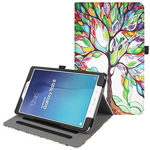 Fintie Hülle für Samsung Galaxy Tab E 9.6 T560N / T561N (9,6 Zoll) Tablet-PC - Multi-Winkel Betrachtung Kunstleder Schutzhülle Etui mit Dokumentschlitze & Auto Schlaf/Wach Funktion, Liebesbaum