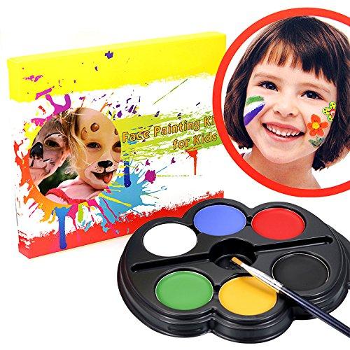 Schminke Paletten Set, YUDA Tech 6 Gesichtsschminke Party Set professionelle Körperbemalungspalette mit reichem Pigment und Gesichts Körper Tätowierungs Farbe - #1 (Gute Cosplay-charaktere)
